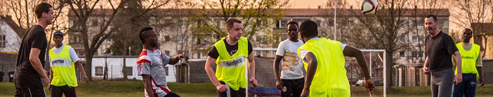 banner fussballspiel